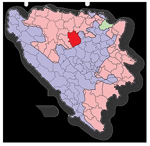 Mapa Teslić